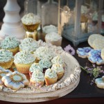 Lavendar and Mint Cookies and Cupcakes - Bohemian Wedding